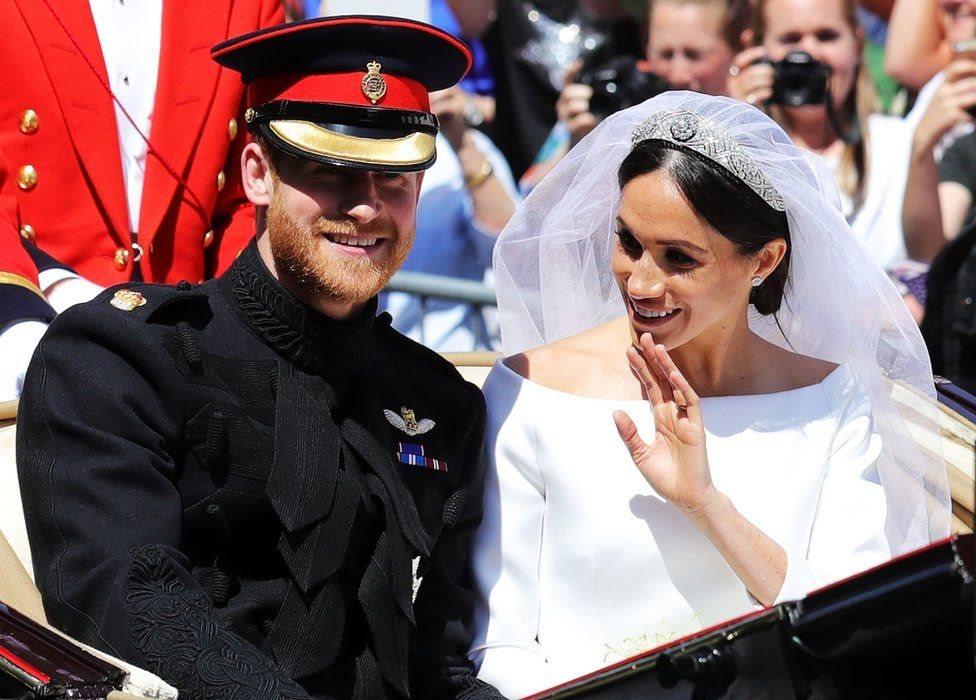 هاري وميغان في حفل زفافهما