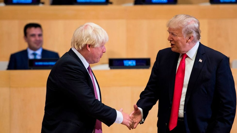 Boris Johnson y Donald Trump