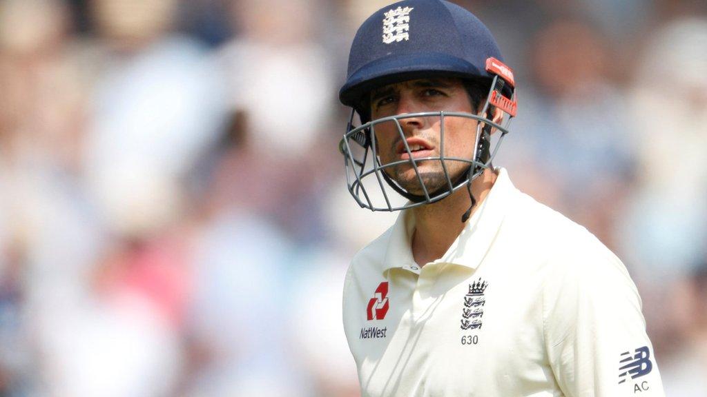 England v Pakistan: Alastair Cook falls to Mohammad Abbas
