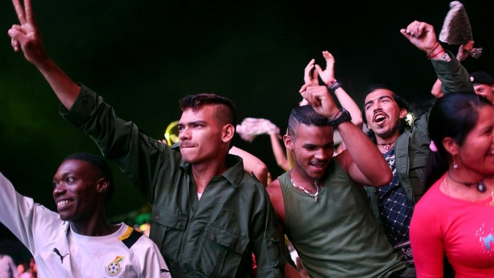 Farc rebels at the group's 10th Conference in the remote Yari plains