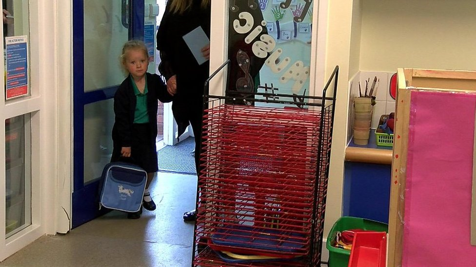 Cumbrian girl born with tumour starts school