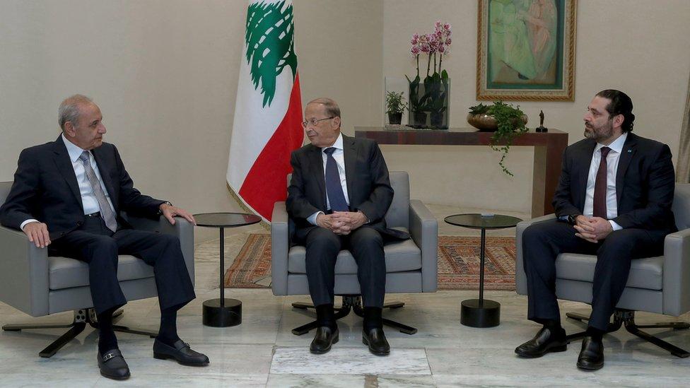 رئيس الوزراء ورئيس الدولة ورئيس البرلمان في لبنان