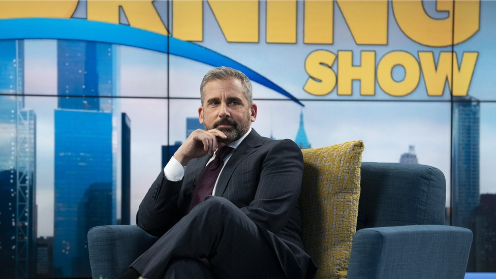 Mitch Kessler (played by Steve Carell) before being fired as The Morning Show's co-host