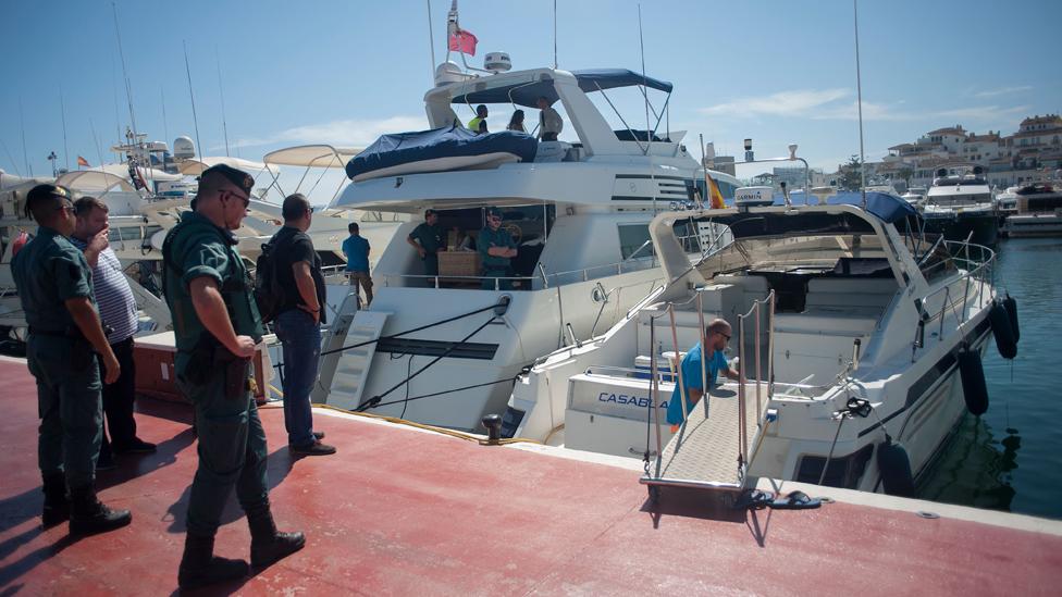 Guardia Civil at Marbella marina, Sep 2017