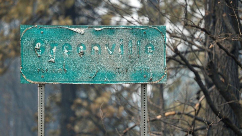 Letrero de Greenville derretido