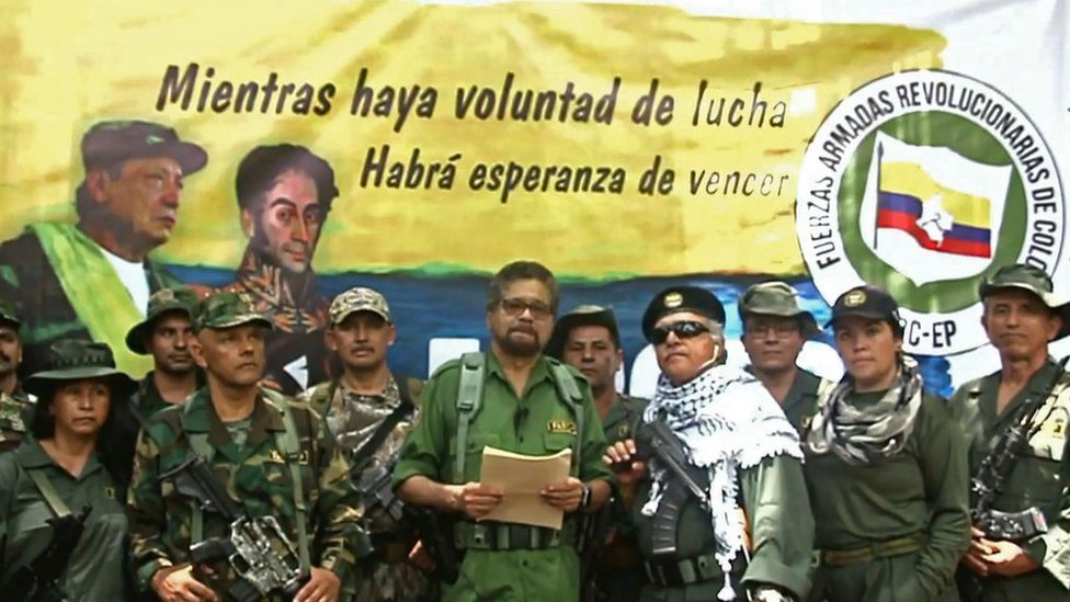 """Iván Márquez, junto a Santrich y """"El Paísa"""""""