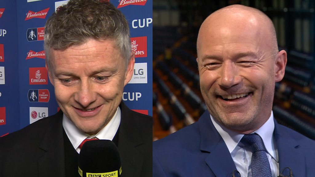 Ole Gunnar Solskjaer ribs Alan Shearer about 1999 FA Cup final defeat