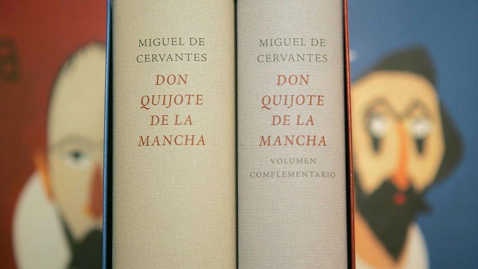 Imagen de una edición de Don Quijote de la Mancha.