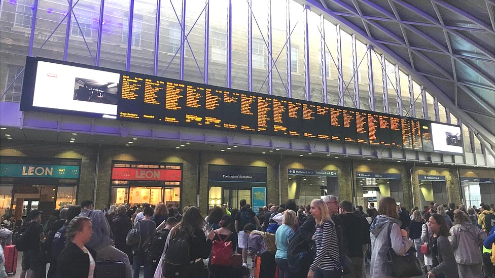 Destination boards at King's Cross