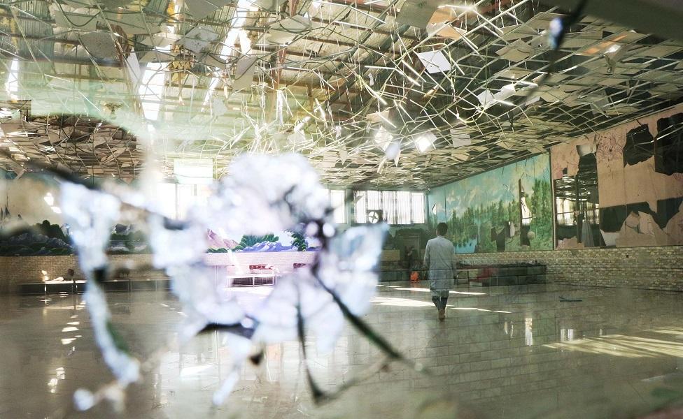 Casamiento destruido por una bomba en Kabul en 2019