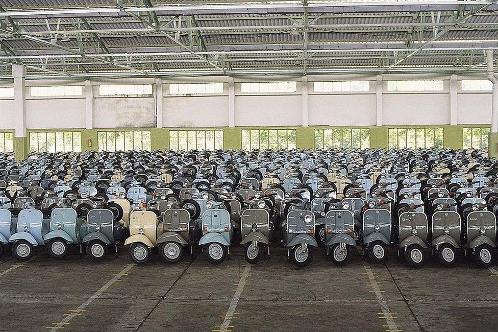Scooters at Bajaj Auto Plant.