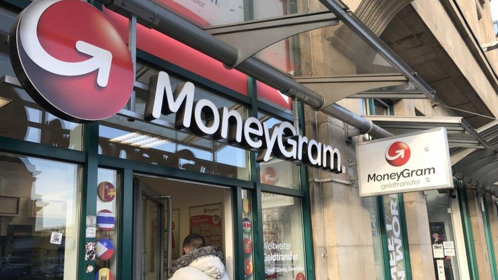 The signage of MoneyGram International office in Frankfurt am Main, Germany, 27 January 2017.