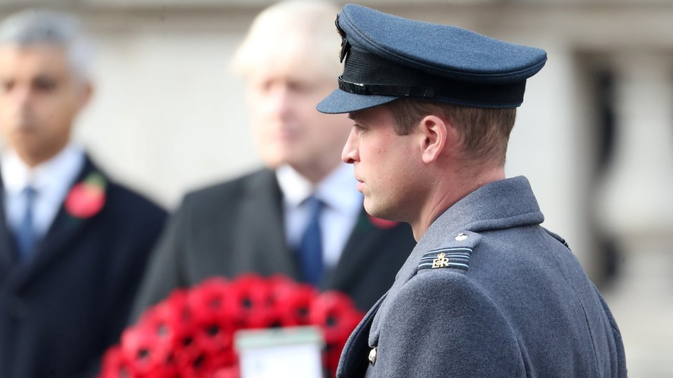 Prince William at the service
