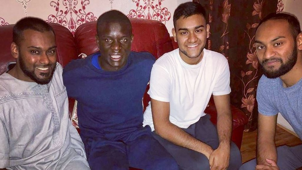 Chelsea star Kante eats curry at fan's house after mosque meeting