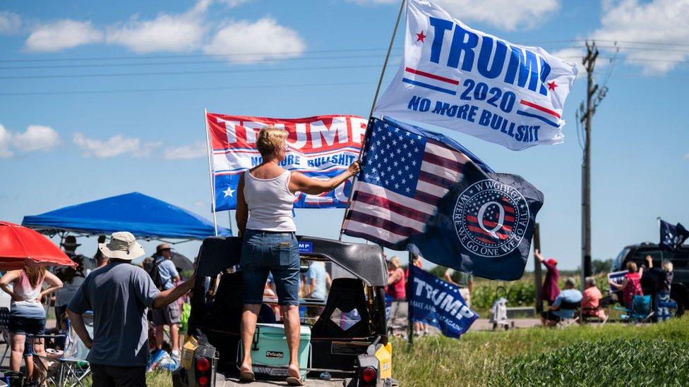 Simpatizantes de Trump en Minnesota