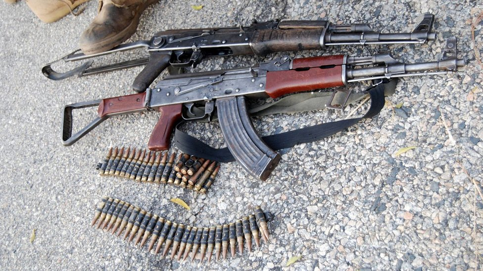 Weapons seized by Boko Haram