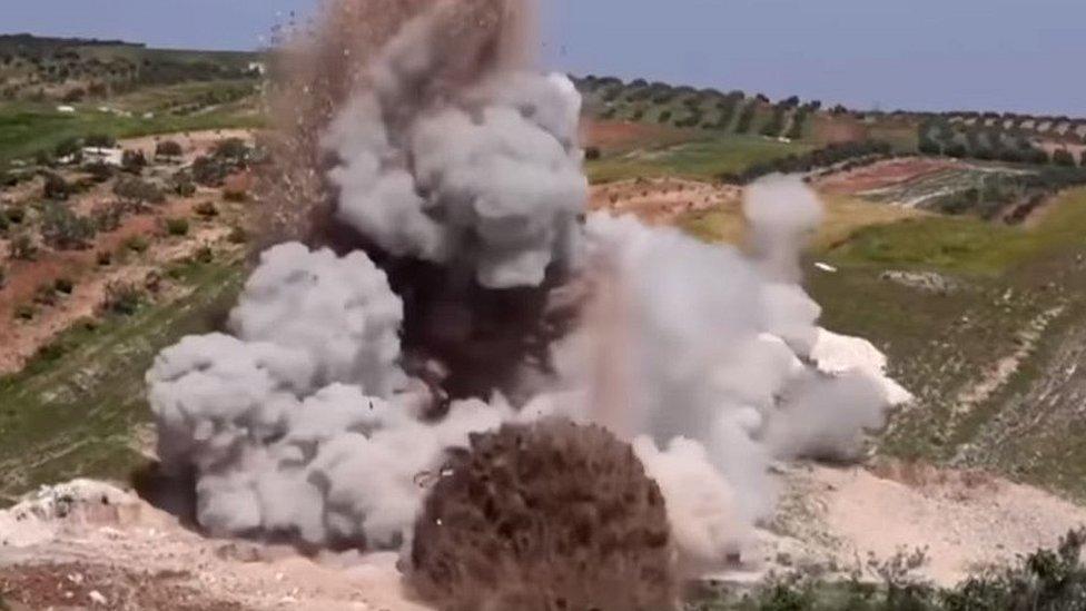 Bombardeo de un hospital en Idlib.