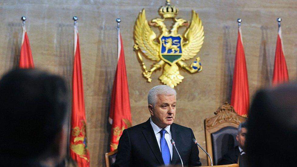 Montenegrin Prime Minister Dusko Markovic
