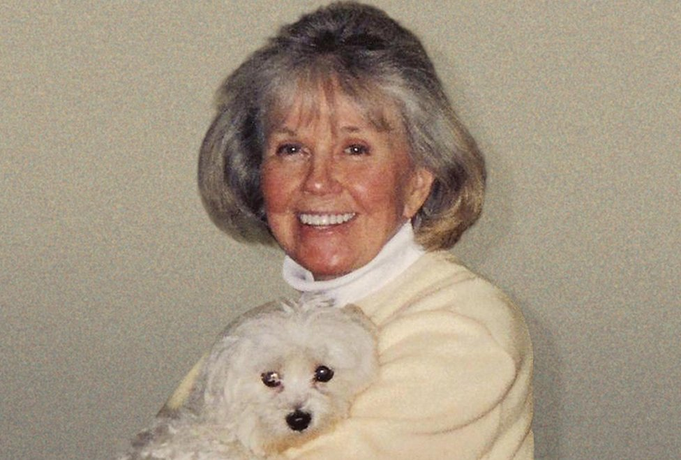 Sony Music undated handout photo of Hollywood legend Doris Day holding her dog Duffy in a publicity shot for her first studio album of new material in 17 years ­ My Heart,