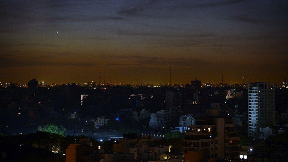 Buenos Aires durante un apagón en 2012.