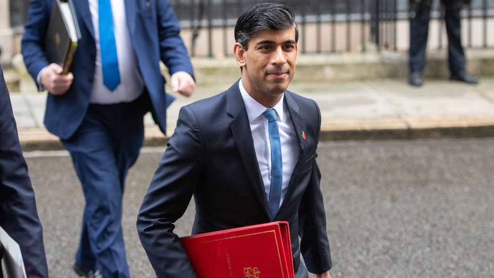 Chancellor Rishi Sunak in Downing Street
