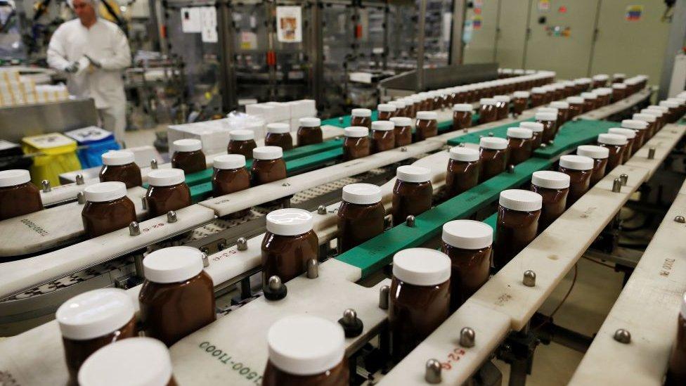 İtalya'nın ünlü kakaolu fındık kreması Nutella fabrikası