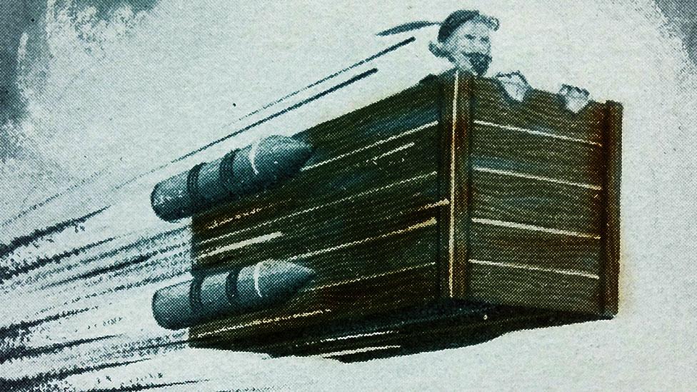 Una ilustración de una de las naves de Cyrano de Bergerac