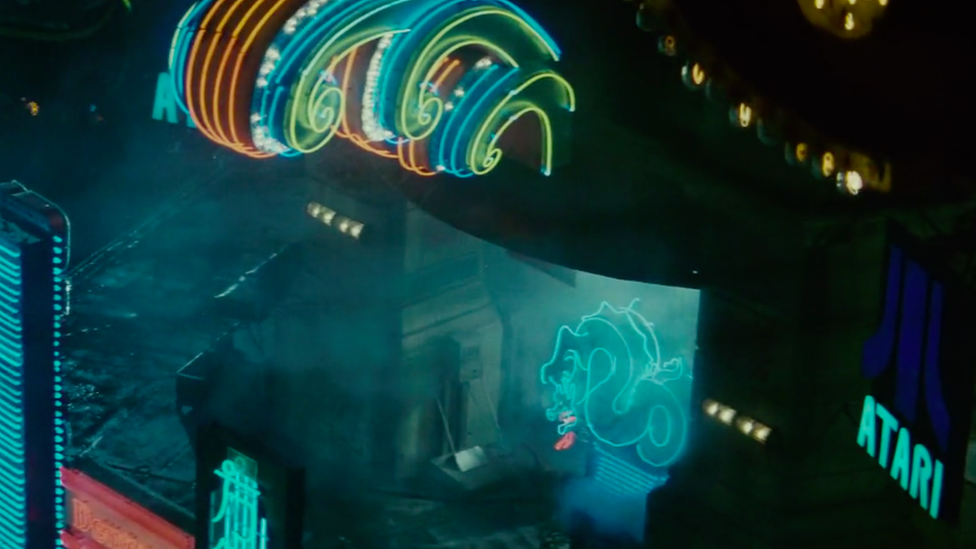 An Atari sign in the film Blade Runner