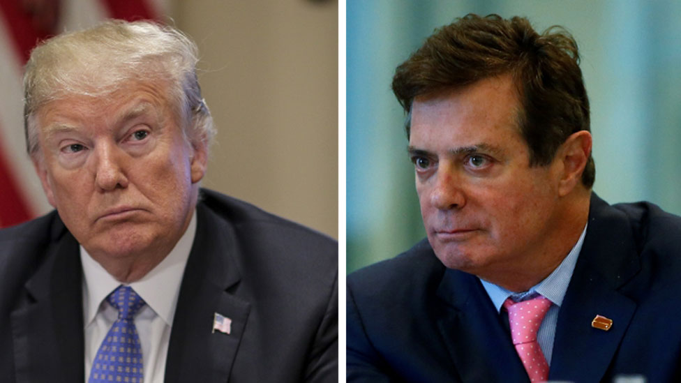 Composite photo of Trump and Manafort