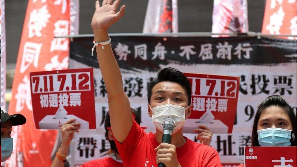民陣召集人岑子杰高票獲勝。
