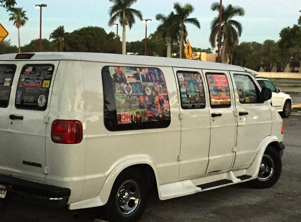 Sayoc's van