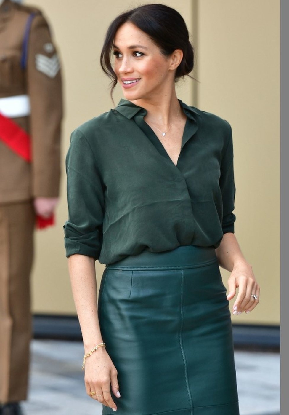 The Duchess of Sussex arriving at the University of Chichester in Bognor Regis