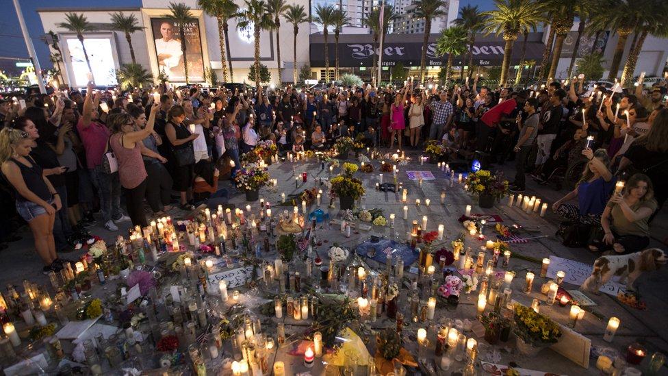 Vigil for Las Vegas victims