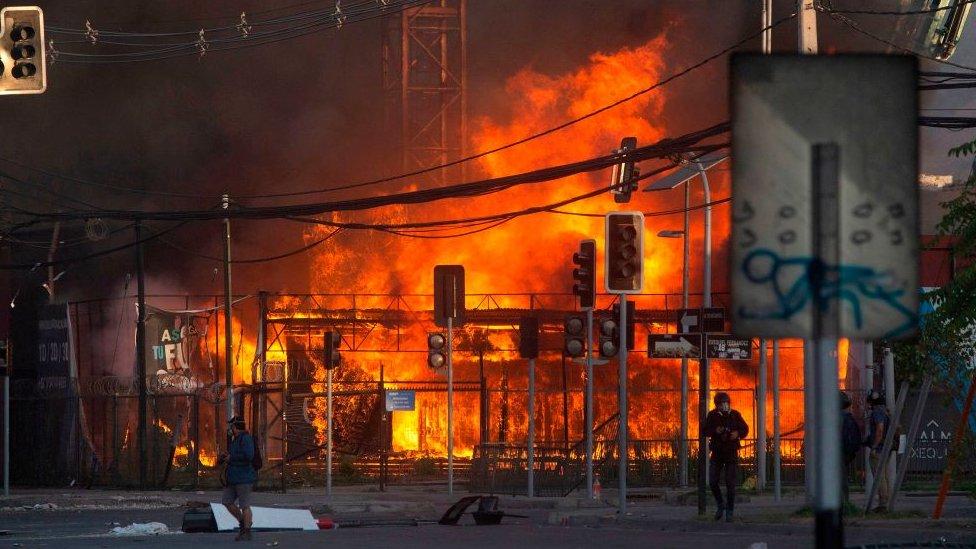 incendio de un edificio