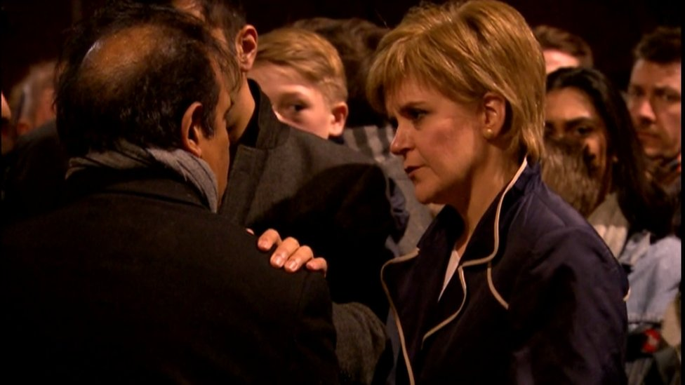 Nicola Sturgeon at vigil
