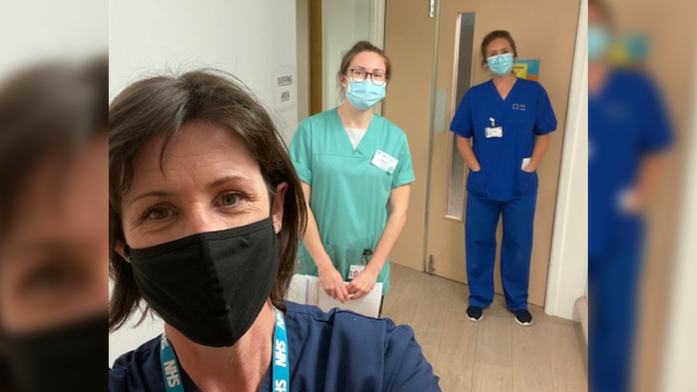Research Team Lead, Zoe Hilton; Research Nurse, Jennie Williams; and Pharmacist Manon Richards have been implementing the trial with the support of ward staff.