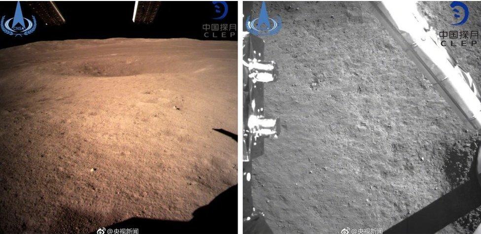 Imágenes de la cara oculta de la Luna publicadas por la Administración Nacional del Espacio de China