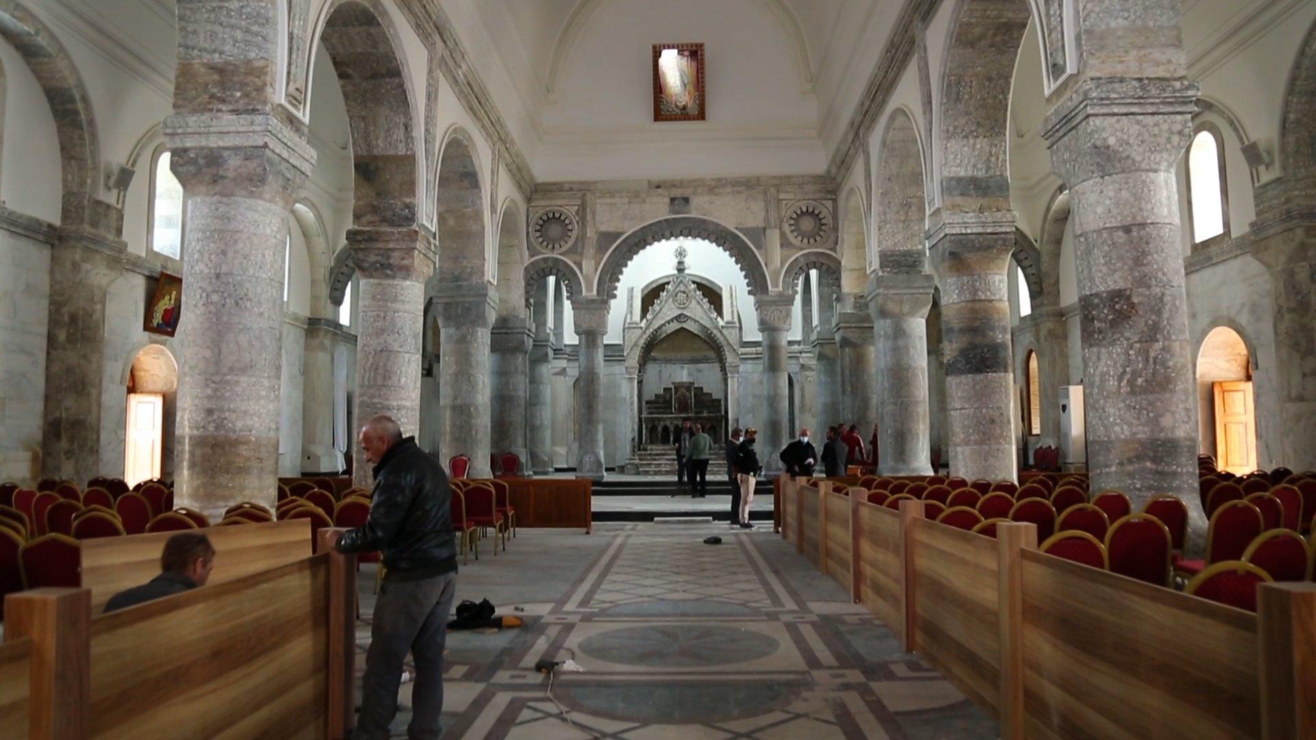 الكنيسة أعيد ترميمها من جديد