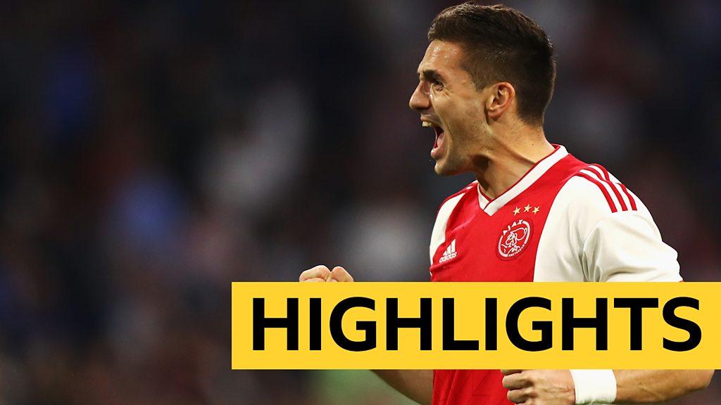 Watch Ajax score four before Tottenham Champions League semi-final