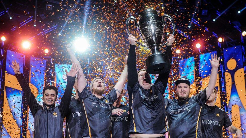 Fnatic lift an esports trophy