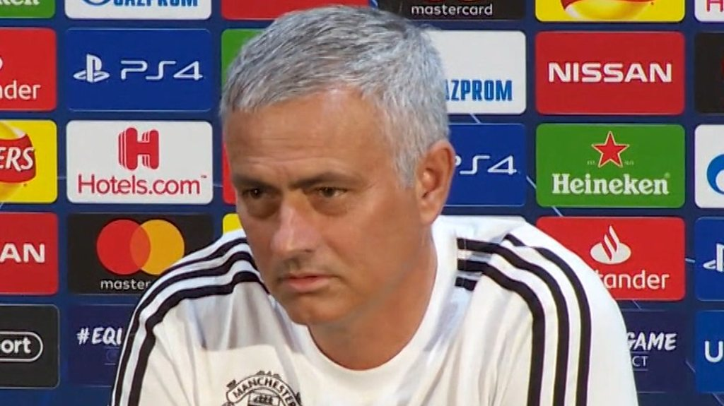 Man Utd: Jose Mourinho says 'last time I spoke in Portuguese, I was in trouble'