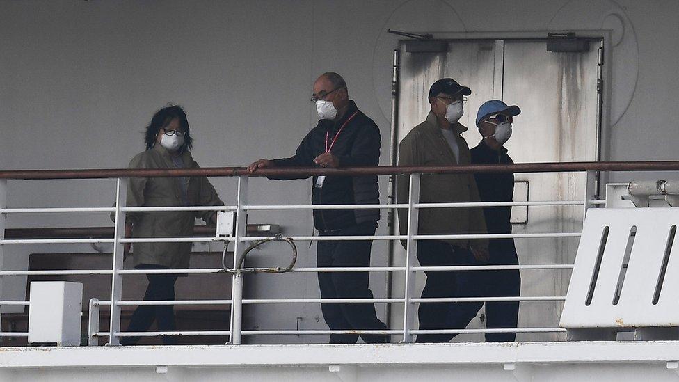 سفينة دايموند برنسيس في اليابان