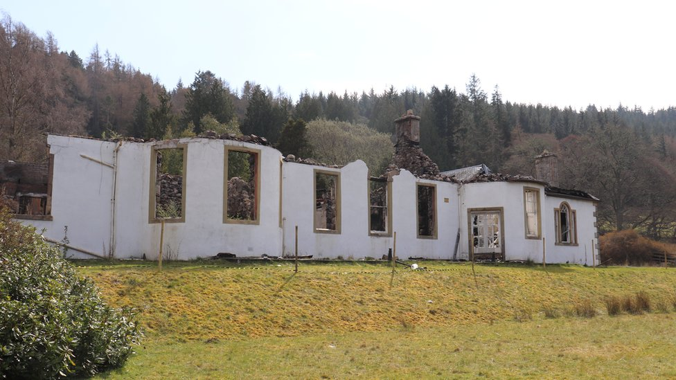 Ruins of historic Boleskine House on Loch Ness up for sale