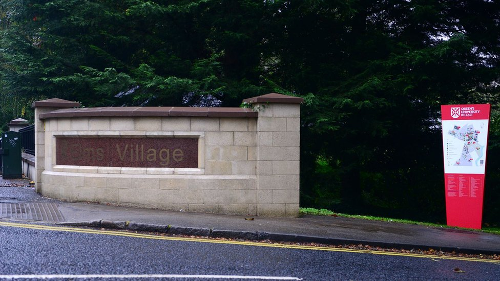 The entrance to the Elms site on the Malone Road