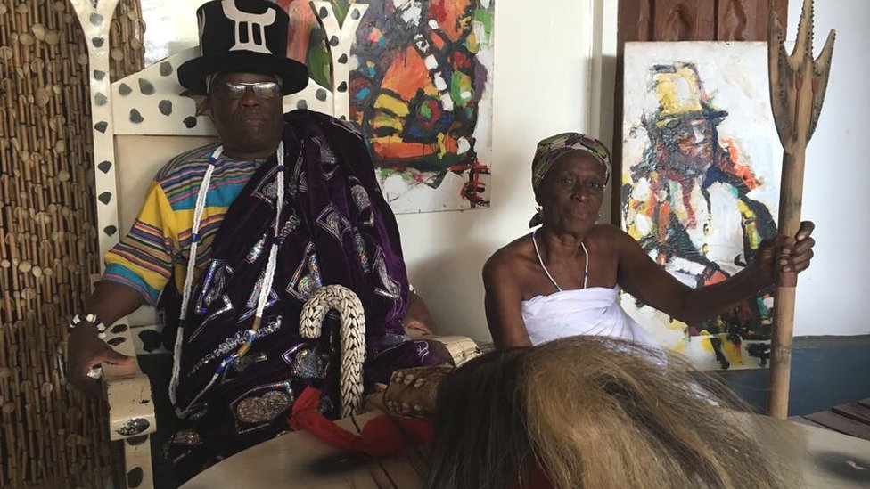 Regional High Priest of Voodoo Daagbo Hounon presides over all the voodoo ceremonies in the region
