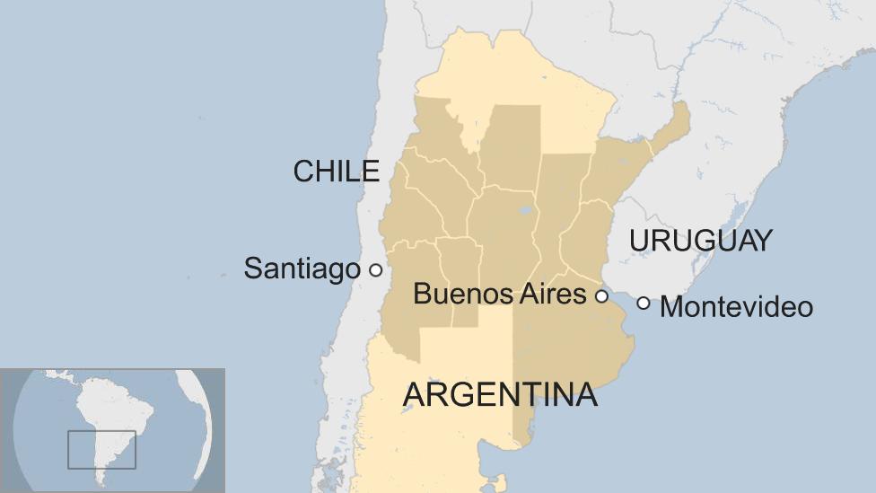 Mapa de Argentina y las regiones afectadas por el mal tiempo