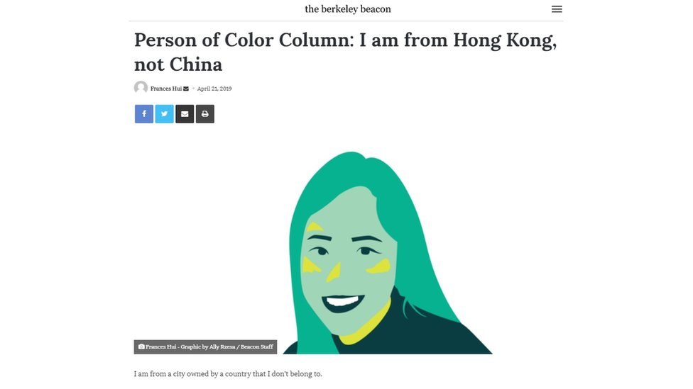 Frances Hui's column in the Emerson College student paper