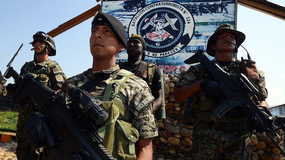 Soldados peruanos en el Vraem.