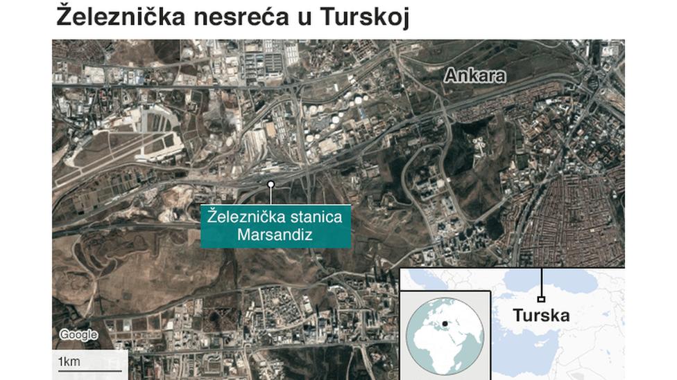 mapa nesreće u Ankari