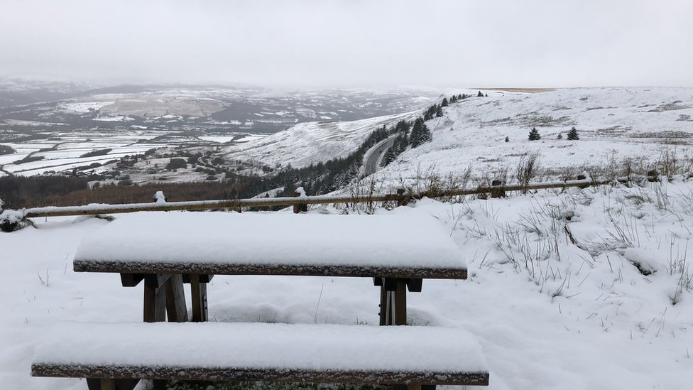 Snow in Rhigos mountain